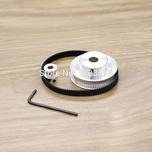 2 Set Timing Belt Pulley GT2 60teeth 15teeth Reduction 4:1/1:4 3D printer accessories belt width 6mm Bore 8&5mm CNC accessories