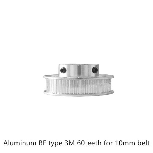 BF type 60 teeth 3M Timing Pulley Bore 6.35mm 8mm 10mm for HTD belt used in linear  pulley 60Teeth 60T