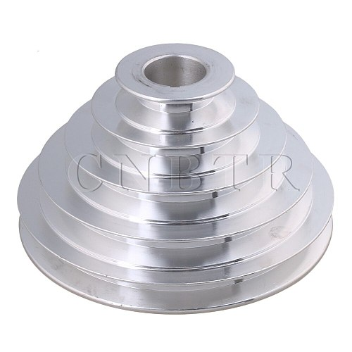 CNBTR 54mm to 150mm Outter Dia 28mm Bore Width 12.7mm Aluminum 5 Step Pagoda Pulley Belt for A Type V-Belt Timing Belt