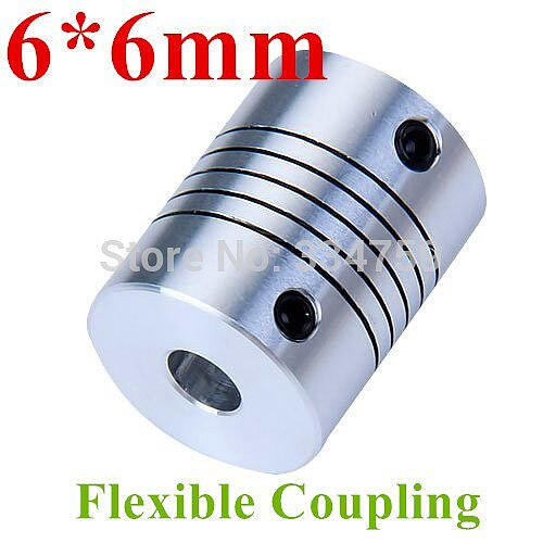 Flexible coupling 6x6mm shaft coupling OD19mm*25mm flexible shaft 6mm 6mm for cnc parts stepper motor