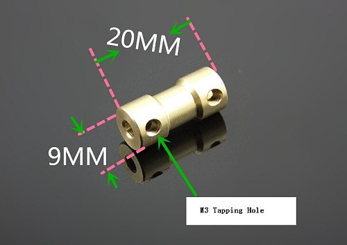 1pcs K546 Copper Shaft Connector Coupling Coupler Shaft To Shaft 22 Styles DIY Toy Car Boat Helicopter Parts Model Airplane