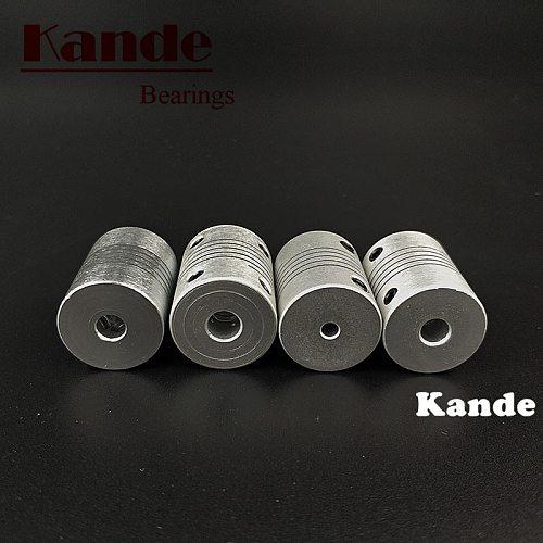 Kande Bearings 1pc  Aluminium CNC shaft  flexible coupler 3D printer 4 5 6 7 8 6.35mm D19L25 Miniature electric  motor couplings