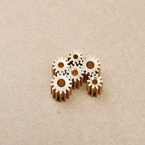 10PCS Micro Brass Metal Copper Gear 4.4mm 9T 0.4 Modulus for 1MM Shaft Diameter Motor Teeth Axis Gears DIY Helicopter Robot Toys