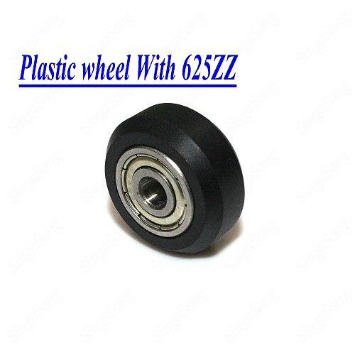 CNC Openbuilds Plastic Wheel POM MR105ZZ 625ZZ V-slot Bearing Bore 5mm Passive Round Gear Perlin Wheel Pulley 3D Printer Parts