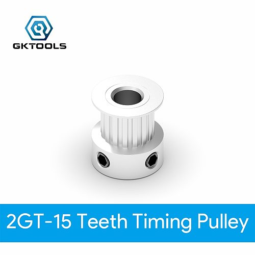 GKTOOLS GT2 Timing Pulley 2GT 15 Tooth Teeth Bore 5mm Synchronous Wheels Gear Part For Width 6 mm  3D Printer Parts  Belt