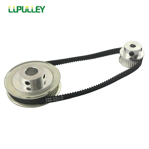 LUPULLEY GT2 Timing Pulley Belt Set 2GT 16T:60T 20T:60T 30T:60T 40T:60T Reduction Synchronous Belt Pulley Kit 200/280mm for CNC