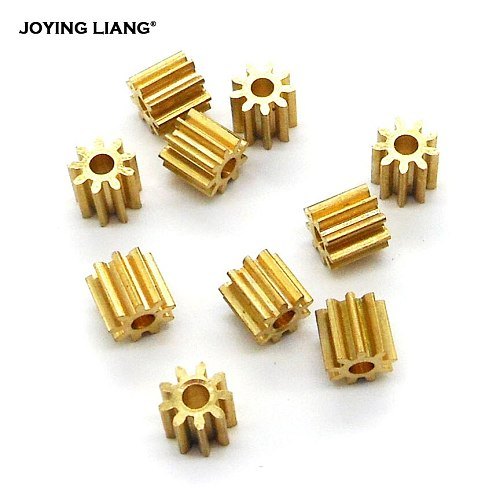 92A / 91.5A 0.4M Copper Pinion Gear 9 Teeth 2mm 1.5mm Shaft Metal Gears Motor Parts Accessory 10pcs/lot