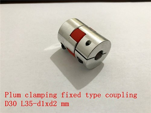 D30 L35 hole minimum 5mm maximum 15mm plum shaped clamping flexible coupling shaft coupler encoder stepper motor 1pcs