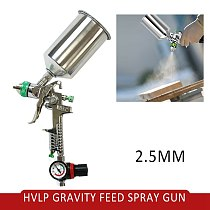 A2020 Car Paint Tool New HVLP Spray Gun 2.5mm Auto Paint Gravity Feed Gauge Metal Flake Primer Nozzle Car Body Repair Tool