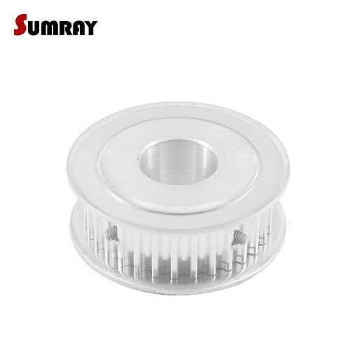 SUMRAY 5M 30T Timing Belt Pulley 6/6.35/8/10/20/25mm Bore Gear Belt Pulley 16mm Width Toothed Wheel Pulley For 15mm Timing Belt