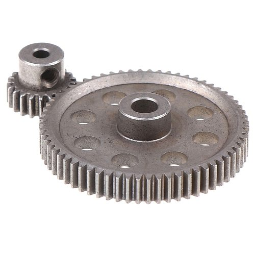 2pcs (21t+64t) 11184 & 11181 Differential Metal Main Gear 64t Motor Gear 21t