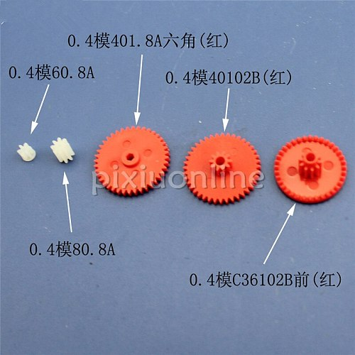 1package include 5pcs J224 0.4 Module Multi Kinds of Gears DIY Gear Package Science and Technology Making Free Shipping Russia