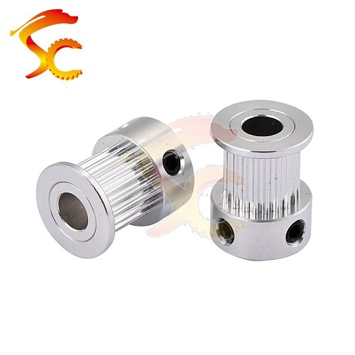 1pcs 2GT 20 teeth Timing Pulley bore 5/6/6.35/8mm fit for GT2 belt width 9MM/10mm for CNC 3D printer(GT2 20teeth)