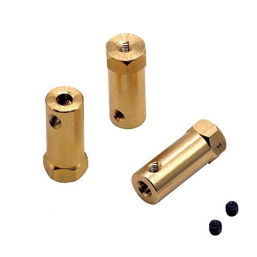1pc Hexagonal Brass Coupling length 30mm Hex Connector Robot Accessories Shaft 3mm 4mm 5mm 6mm 7mm 8mm Yellow Copper Screw Wheel