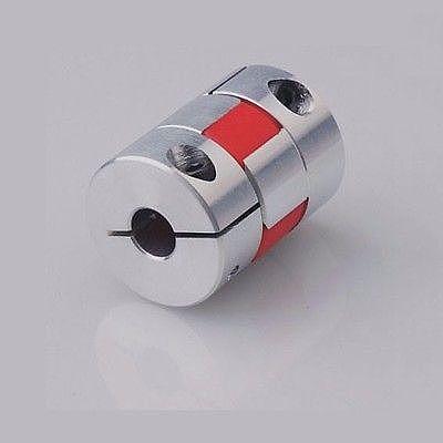I/D 6mm To 16mm O/D 30mm Length 35mm Aluminium Plum Shaped Clamping Flexible Shaft Coupling Coupler Encoder CNC Stepper Motor