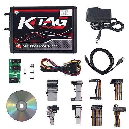 EU Red PCB KTAG V7.020 KESS V2 V5.017 No Token Limited ECM Titanium Master Version ECU programming tool Car/Tractor/Bike V4.036