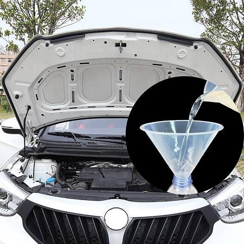 1 Pcs Universal Car Engine Oil Funnel Glass Water Filling Funnel Gasoline Special Funnel Filling Equipment Kit