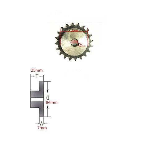 1.5m Length 08B Drive Chain,20 Teeth 08B Big Sprocket And 10 Teeth 08B Small Sprocket Transmmission Wheel