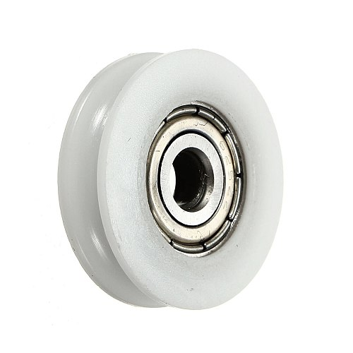 Round Groove Nylon Pulley Wheels Roller High Carbon Steel U Groove pulley Ball Bearing slide flexible