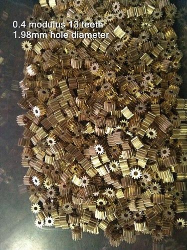0.4 modulus 13 teeth copper gear 0.4M 13T 1.98 mm 2 MM hole diameter 4 * 6 MM