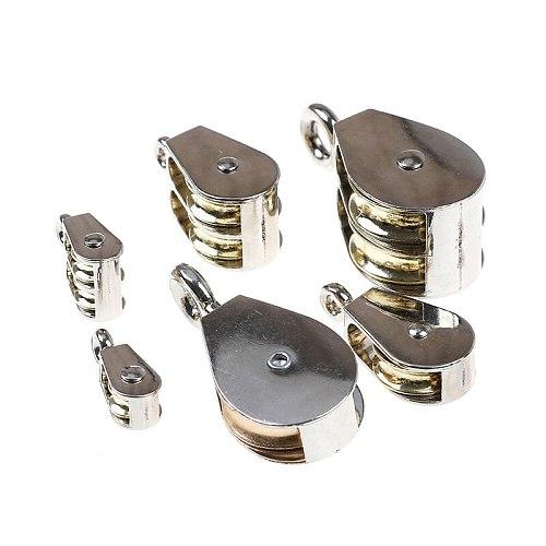 1PCS 36/52/75mm Stainless Steel 304 Single Wheel Swivel Rollers Block Loading