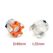 1pcs D40L55 XB Coupler 8/10/12/14/15/16/18/19/20 mm Flexible Plum Shaft Coupling CNC Stepper Motor Coupler for ball screw