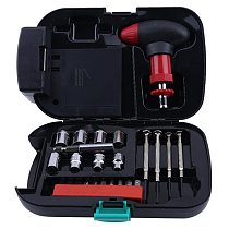 A25pcs Car Emergency Multi-Function Tool Box Sheet Metal Tools Set Kit Multi-Functional Switch Sockets Heads Screwdrivers