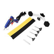 Car Sheet Metal Tools Set 20W Mini Hot Melt Glue Gun Bridge Dent Puller Glue Sticks Auto Body Dent Repair Tool Kit