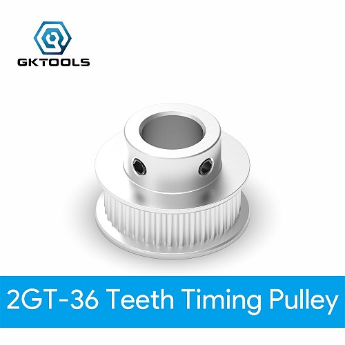 GKTOOLS GT2 Timing Pulley 2GT 36 Tooth Teeth Bore 5/6/6.35/8/10/12mm Synchronous Wheels Width 6/9/10/15mm Belt 3D Printer Parts