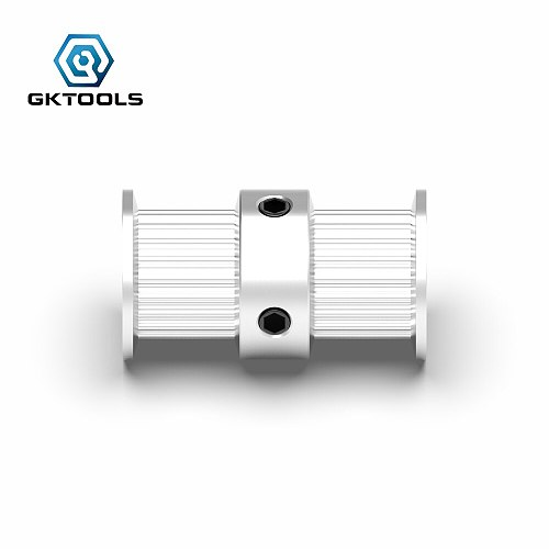 GKTOOLS GT2 2GT 20 Teeth Double Head Aluminum Pulley Bore 5mm 6mm 6.35mm 8mm Width 6mm Timing  for 3D Printer