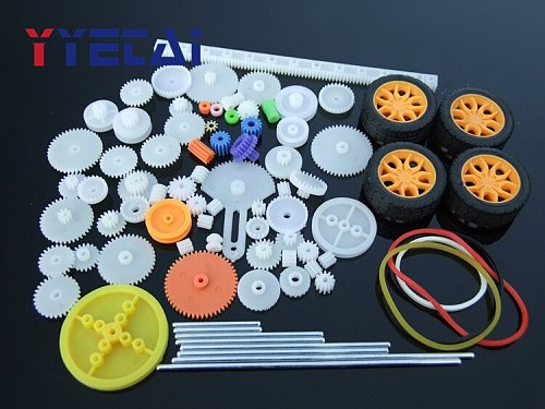 78pcs Gearbox Toy Robot Motor Plastic Gear DIY Model Accessories Bevel Gear Standard
