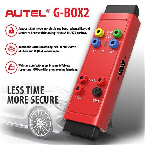Original Autel G BOX2 Tool Work with Autel MaxiIM IM608/IM508 for Key Programming Support MB Vehicle All Key Lost