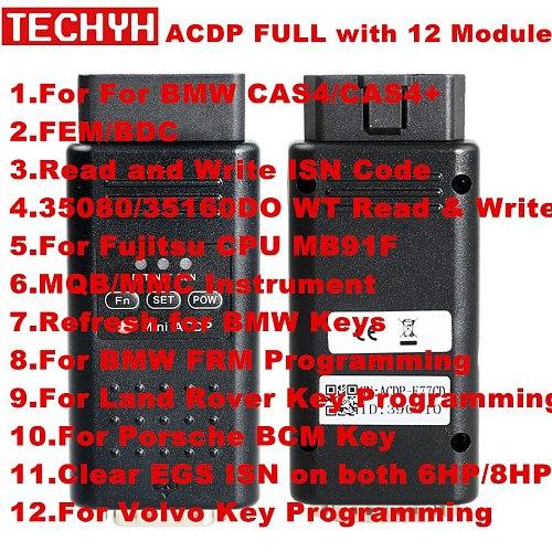 Full Version Yanhua Mini ACDP Programming Master Support CAS1/CAS2/CAS3/CAS3+/CAS4/CAS4+/FEM/BDC Key Programming/Read DME ISN