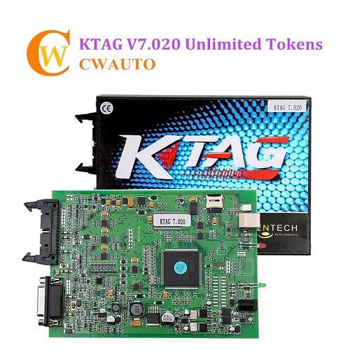 Online Version KTAG 7.020 V2.25 Master Version ECU Programming Tool K TAG with Unlimited Token Add More 140 Tokens