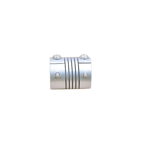 aluminium alloy CNC Stepper Motor Flexible Coupling silver diameter 20mm length 25mm Shaft Coupler clamp