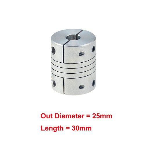 1pc D25L30 8x10mm coupler CNC Motor Jaw Shaft Coupler clamp Flexible Coupling OD 25x30mm 5mm 6mm 6.35mm 8mm 10mm12mm