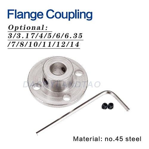 3/3.17/4/5/6/6.35/7/8/10/11/12/14mm rigid flange coupling motor guide shaft coupling motor connector