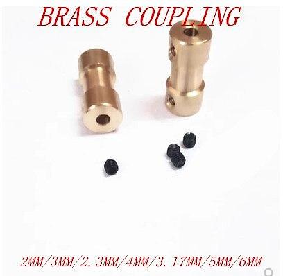 1pc 26 kinds   2mm  2.3mm  3.17mm 3mm 4mm, 5mm 6mm  brass shaft coupler coupling Shaft Motor Coupler Motor connector