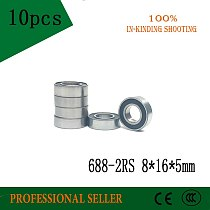 688-2RS 8*16*5 mm 10pcs  8x16x5 mm ABEC5  688 rs 688rs the Rubber sealing cove MINI deep groove ball bearings