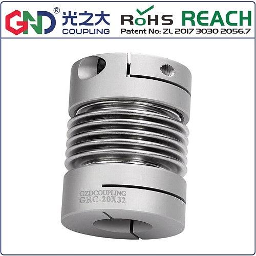 GRC Aluminum Alloy Bellows Clamp Series GND shaft couplings D20 L32 for servomotor/stepmotor