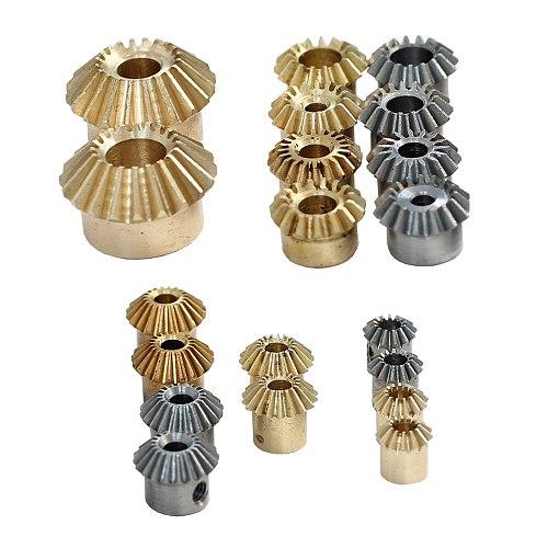2PCS Bevel 0.4M 12T gear 0.5M 13T 18T 23T 25T Copper steel 0.8M 15T 1M 15T 20T 90° 90 degree transmission gear