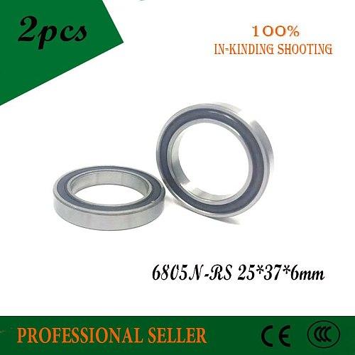 2pcs 6805N 6805N-RS SI3N4 hybrid ceramic bearing 25x37x6 6805N 25376 bike wheel bottom bracket bearing