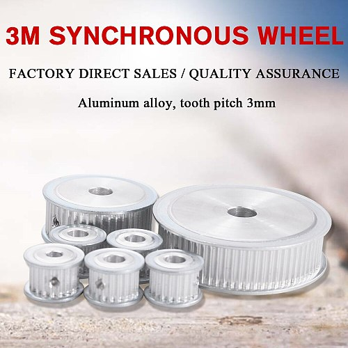 3M 40T Timing Pulley 6/6.35/8/10/12mm Bore Gear Pulley 3mm Pitch 11mm Belt Width Aluminum Alloy Synchronous Timing Belt Pulleys
