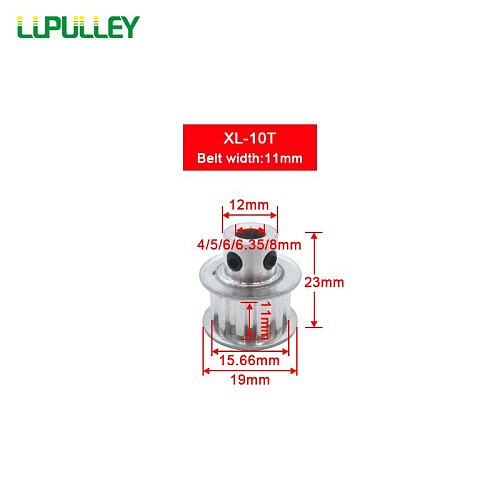 LUPULLEY XL 10T Timing Pulley 10 Teeth Bore 4/5/6/6.35/8mm Aluminum Alloy Pulley Wheel Pulley for 10mm Synchronous Belt