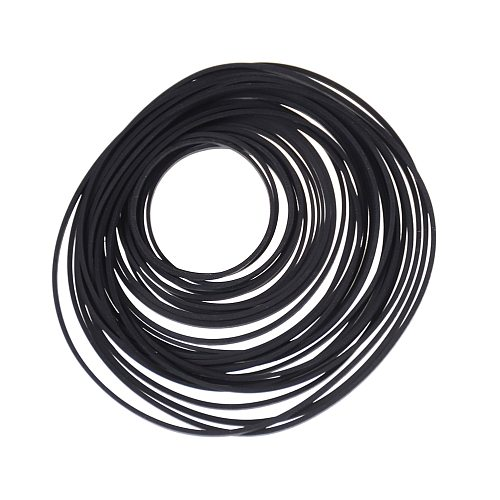 1Pack/Lot Black Rubber Small Fine Pulley Pully Belt Engine Drive Belts For DIY Toy Module Car Dia 30mm To 120mm