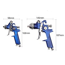AUTOUTLET 2 Pcs HVLP Professional Spray Gun 125ML 600ML Car Paint Tool Kit Gravity Feed Vehicle Car Paint 1.4MM 0.8MM Nozzle New