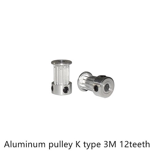 K type 12 teeth 3M Timing Pulley Bore 6mm 6.35mm for HTD belt used in linear  pulley 12Teeth 12T