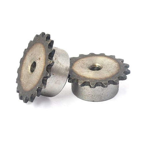 1Pcs 04C 9T-24T Sprocket Wheel Industrial Chain Gear Pitch 6.35mm 45 Steel Suitable For 04C Roller Chain