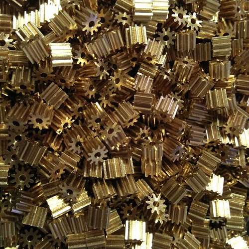 102A 0.6M Copper Gear Diameter 7.2mm 10 Teeth Mechanical Parts Hole 1.98mm Brass Pinion Small Module Gears