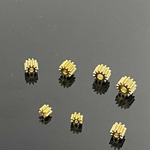 7/8/9/10/11/12 Teeth Metal Copper Gear Transimission Gear  For 1mm 1.5mm 2mm shaft